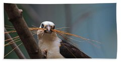 White-headed Buffalo Weaver Bath Towel