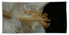 White Hibiscus Hand Towel