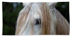 White Horse Eye And Mane Hand Towel