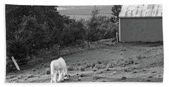 White Horse, New York Bath Towel