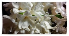 White Hyacinth Hand Towel