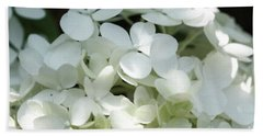 White Hydrangea II Bath Towel by Mary Haber