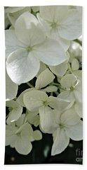 White Hydrangea Hand Towel by Patricia Strand