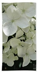 White Hydrangea Bath Towel by Patricia Strand