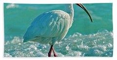 White Ibis Paradise Bath Towel