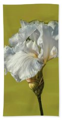 Hand Towel featuring the photograph White Iris June 2016 Artistic.  by Leif Sohlman