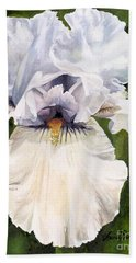 White Iris Hand Towel