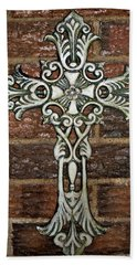 White Iron Cross 1 Hand Towel