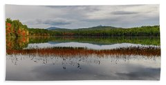 White Lake Fall Chocorua Nh Hand Towel
