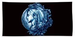 White Lilly Of The Virgin Mary Bath Towel by Fred Larucci