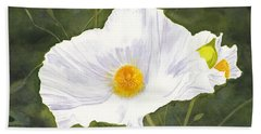 White Matilija Poppy  Hand Towel