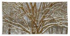 White Oak In Snow Hand Towel