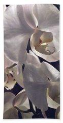 White Orchid Portrait Hand Towel