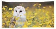 White Owl Bath Towel