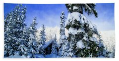 White Pass Chalet Bath Towel by Lynn Hopwood