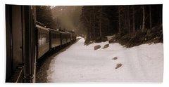 White Pass Railway Bath Towel