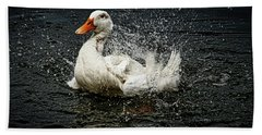 White Pekin Duck Hand Towel