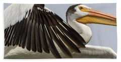 White Pelican 2016-3 Bath Towel by Thomas Young
