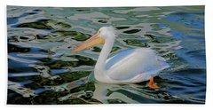 White Pelican Hand Towel