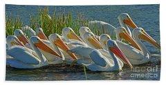 White Pelican Sun Party Bath Towel
