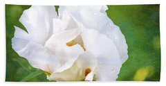 White Peony After The Rain Hand Towel