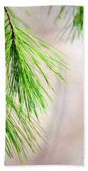 Bath Towel featuring the photograph White Pine Branch by Christina Rollo