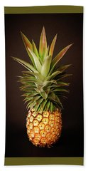White Pineapple King Hand Towel