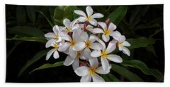 White Plumerias In Bloom Hand Towel