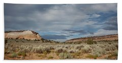 Hand Towel featuring the photograph White Pocket Meets Vermillion Cliffs by Anne Rodkin