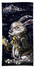 White Rabbit Hand Towel
