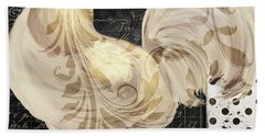 White Rooster Cafe II Hand Towel by Mindy Sommers