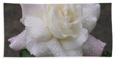White Rose In Rain - 3 Bath Towel