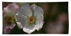 White Rose In Shadow Bath Towel