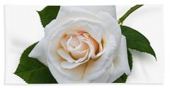 White Rose Bath Towel by Jane McIlroy