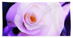 Hand Towel featuring the photograph White Rose by Mary Ellen Frazee