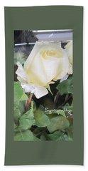 White Rose - Sympathy Card Bath Towel