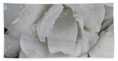 White Rose Bath Towel