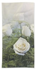 White Roses Hand Towel