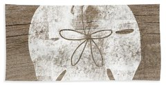 White Sand Dollar- Art By Linda Woods Bath Towel