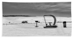 Bath Towel featuring the photograph White Sands National Monument #9 by Lou Novick