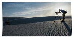 White Sands Photographer Hand Towel