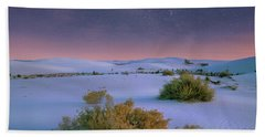 White Sands Starry Night Bath Towel by Tim Fitzharris