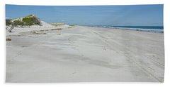 White Sandy Beach Hand Towel