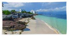 White Sandy Beach Of Cancun Hand Towel