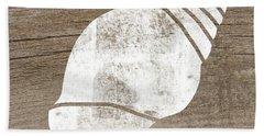 White Seashell- Art By Linda Woods Bath Towel