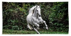 White Stallion Bath Towel