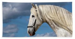 White Stallion Hand Towel