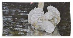 White Swan Hand Towel