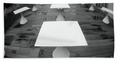 White Tables Hand Towel