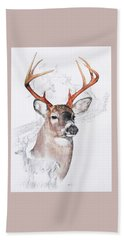 White-tailed Deer Hand Towel by Barbara Keith